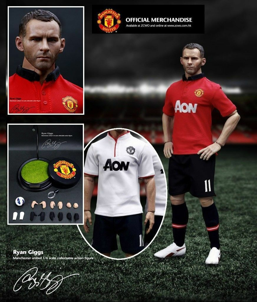 ZCWO Football Star Manchester United Ryan Giggs 1/6 Figure