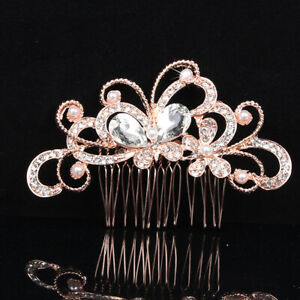 Crystal-Glitter-Hair-Comb-Hairpin-Clip-Pearl-Flower-Butterfly-Wedding-Jewellery