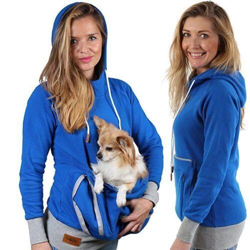 Pet Bag Pouch Hoodie Small Cat Dog Carrier Holder Sweatshirt Large Kangaroo Suit