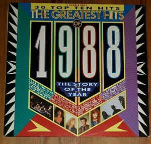 Various-The-Greatest-Hits-Of-1988-2-Vinyl-LP-Comp-33rpm-Telstar-STAR2334