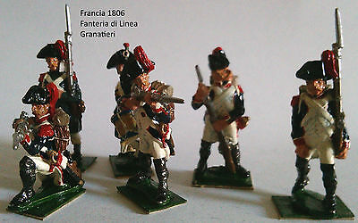 6 Fanteria Hq Painted 25 Mm Lead Soldier Very Detailed Collectable Francia Numerosi In Varietà