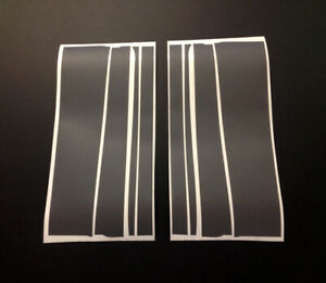 Vauxhall Nova GTE GSI SR Grey 8 Piece B Pillar Decal / Sticker Kit