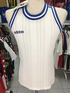 new product 95358 565f2 Image is loading BNWT-Vintage-Vest-Tank-Basketball-Shirt-Adidas-Womens-