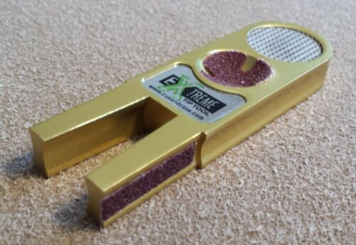 5 in 1 Extreme Tip Tool For Your Pool Cue Care Gold Brass  FREE SHIPPING !!!