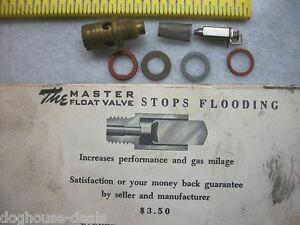 Details about VINTAGE CHRYSLER CARBURETOR CHR-1-M MASTER FLOAT VALVE STOP  FLOODING PARKER ~