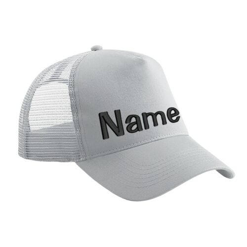 Text Basecap Kappe Mütze Cappy Mesh Cap Snapback Trucker Cap bestickt mit Name