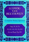 Ludwig Van Beethoven: Complete String Quartets by Ludwig Van Beethoven (Paperback, 1970)