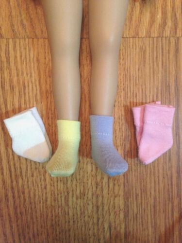 """4 pair pastel Ankle Socks for 13/"""" Effner Little Darling doll"""