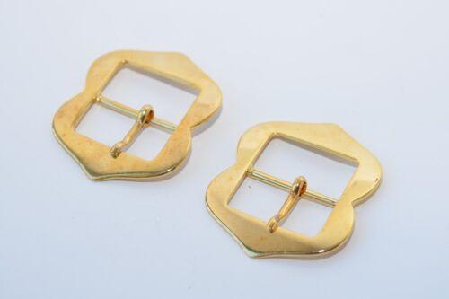 35 mm Breite ca 2x Solide Gürtelschnalle Schließe Schnalle Mittelalter Gold