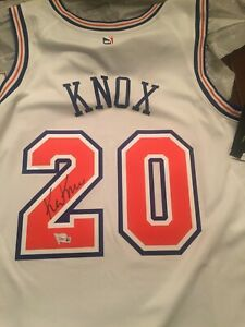 02cad3268 Image is loading Kevin-Knox-Knicks-Autographed-White-Nike-Swingman-Jersey-