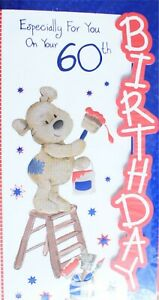 Image Is Loading 60th Birthday Card Male Various Tall