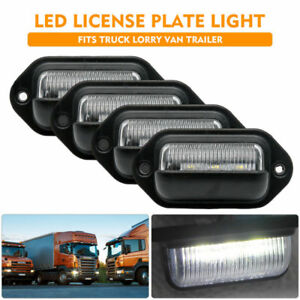 4-x-3-LED-License-Number-Plate-Light-Lamp-Fit-Lorry-Truck-Van-Trailer-12V-24V