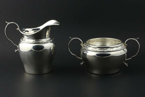Gorham Cream Sugar Servers 1163 1162 Sterling Silver 7/16 Pint Fine Dining