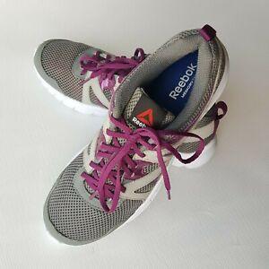 przemyślenia na temat Najlepsze miejsce online tutaj Details about Women's Reebok Memory Tech Gray / Purple Athletic Shoes Size  US11