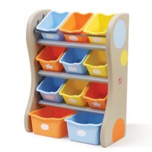 Details zu Kinder-Regal mit 11 Boxen, Spielzeugkiste Regal  Aufbewahrungsregal Kinderzimmer