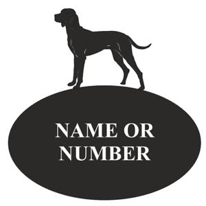 Hungarian Visla Dog Metal Oval House Plaque