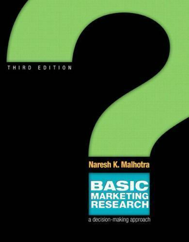 Solution manual basic marketing research & qualtrics pkg 3rd.