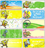 18 SpoongeBob  Personalised vinyl name Label Sticker School, Childcare