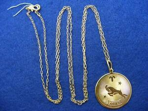 28-Nordstrom-ARIES-Horoscope-Sign-Zodiac-Pendant-Necklace-Goldtone-36-034-Long