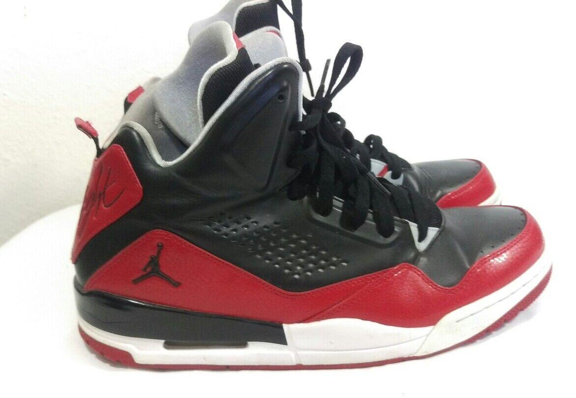 Nike air jordan volo scarpe da basket nero / palestra red 629877 001 46