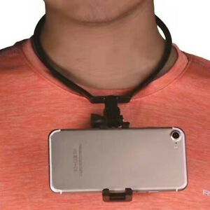 Hang-On-Neck-Action-Camera-Hands-Free-ABS-Bracket-Mount-Stand-Phone-Holder-pf