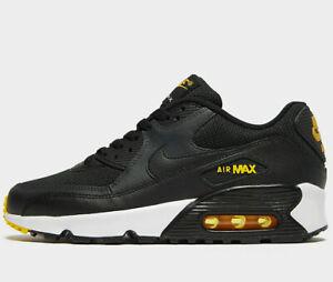 Détails sur Nike Air Max 90 Mesh GS ® (Taille UK 5 Eur 38) NoirBlanc dernières nouvelles afficher le titre d'origine