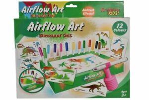 Children-039-Arts-amp-Crafts-Air-Blow-Dinosaur-Pen-Set-Educational-Drawing-Art-Kids