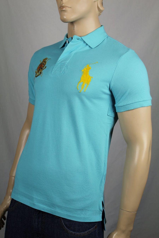 Ralph Lauren 1X-Big 1XB bluee Classic Fit Big Yellow Pony Polo NWT