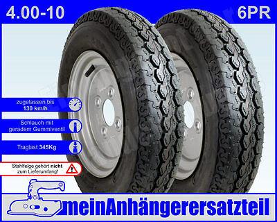 4.00-8 für DDR Anhänger HP 280 300 350 400 401 2x Anhängerreifen Reifen 4.80-8
