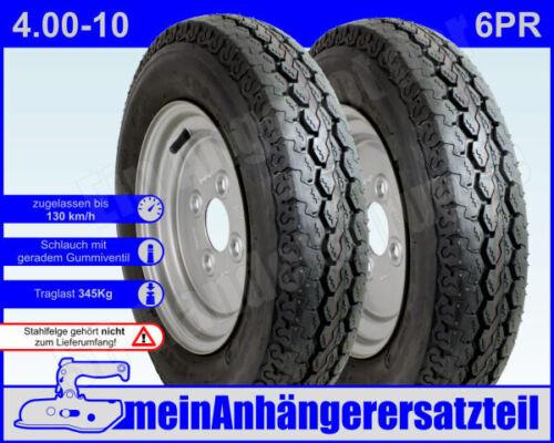 manguera para automóviles remolque 2x neumáticos remolque neumáticos 4.00-10 6pr 71m incl