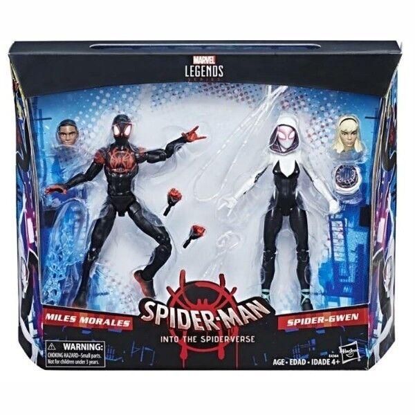 Marvel Leggende Into The Spiderverse Miglia Morales & Spider Gwen Confezione da