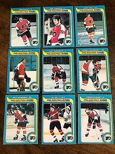 1979-80-O-PEE-CHEE-PHILADELPHIA-FLYERS-18-card-team-lot