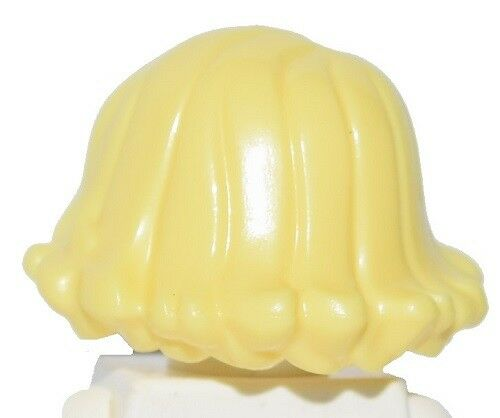 ☀️NEW Lego Minifig Hair Female Girl Blonde Mid Length Curled Up Shoulder Wavy