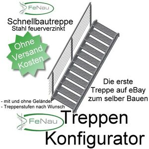 treppenbausatz aussentreppe nottreppe lagertreppe stahltreppe treppe ebay. Black Bedroom Furniture Sets. Home Design Ideas