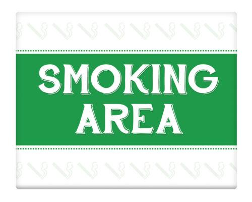 "Smoking Area 8x10/"" Metal Sign Pub Club Property Business Smokers Outdoors #25"