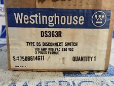 New Westinghouse Ds363r 100 Amp 600 Volt Fused 3p Disconnect Switch