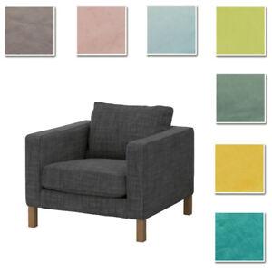 Custom-Made-Cover-Fits-IKEA-Karlstad-Armchair-Chair-Cover-Velvet-Fabric