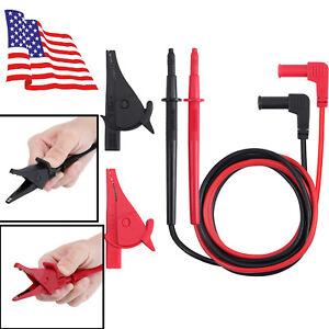 4mm-Electrical-Multimeter-Probes-Lead-Test-Leads-M4-Alligator-Clips-Hook-Set