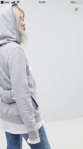 gris etiquetas Adidas con capucha para con 12 talla mujer Trefoil nueva Sudadera Px4FIEqwRZ