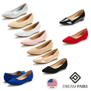 DREAM PAIRS Women's Slip On Ballet Flat Comfort Pointed Toe Casual Dress Shoes