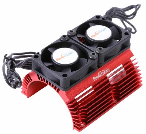 Doppel Kühlung Fans PowerHobby Rot 1//8 Aluminium Motor Kühlkörper W