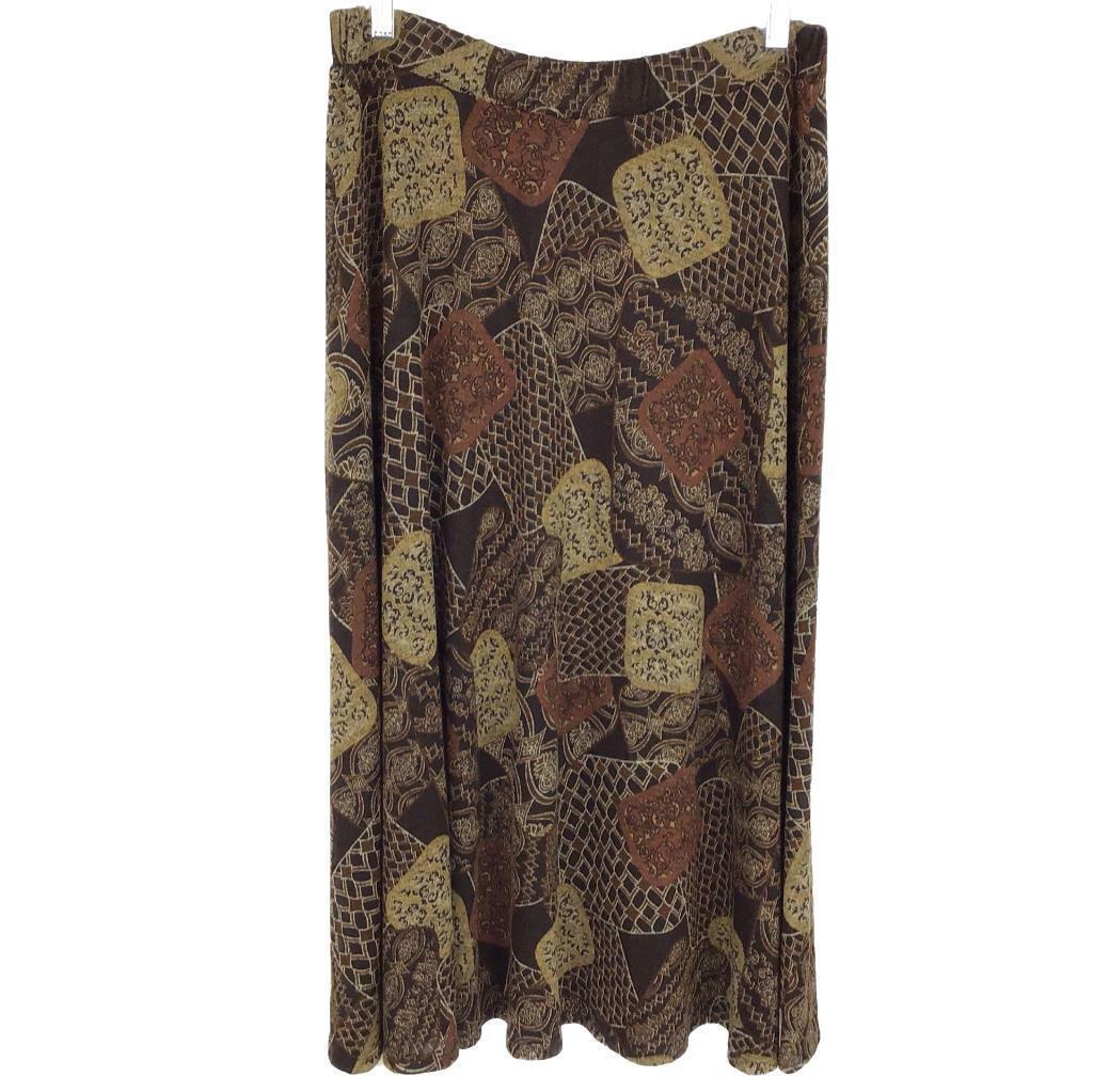 Serengeti Catalog Damen M Überziehen Strick Rock A Line Stretch Druck Brown