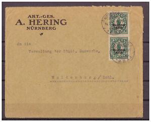 Empire-Allemand-Minr-131-Mef-Kgs-Nuremberg-apres-Waldenburg-14-02-1922