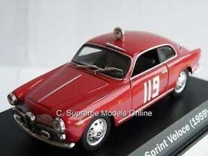 Alfa Romeo Giulietta Sprint Veloce coche 1959 1/43RD NO119 T3412Z ejemplo de la etiqueta (=)  </span>