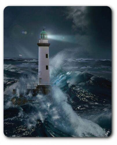 Leuchttürme Sturm Nacht See Meer Mondlicht Mauspad Mousepad #89060 23x19cm