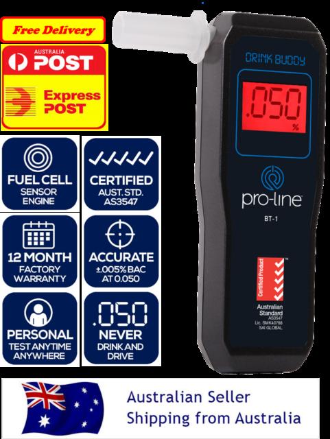 PROLINE Drink Buddy Australian Standard AS3547 Fuel Cell Personal Breathalyser