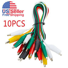 10pcs And 5 Colors Test Lead Set Alligator Clip 205 Inches Double Ended Lead
