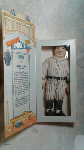 Famous Americans BOXED Baseball Babe Ruth 1979 Hallmark Cloth Doll