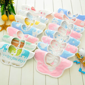 360 Degree Rotation Baby Bibs Bandana Burp Cloths Newborn Infant Saliva Towel