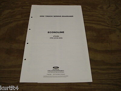 1992 Ford Econoline Van E150 E250 wiring diagram schematic ...